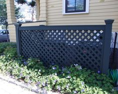 5 Ways to Hide That Big Air Conditioner in Your Yard Traditional Landscape by vdhdesign Outdoor Spaces, Outdoor Living, Outdoor Decor, Outdoor Ideas, Outdoor Furniture, Air Conditioner Screen, Air Conditioner Cover Outdoor, Hide Trash Cans, Trash Bins
