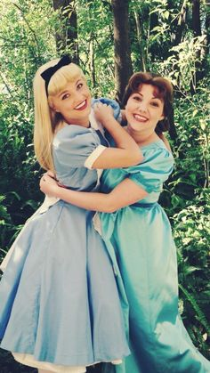 Two of my favorites: Alice from Alice in Wonderland and Wendy from Peter Pan