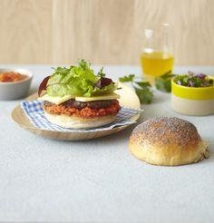 Découvrez cette innovante recette du Hamburger végétarien aux herbes fraîches.