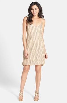 Alexia Admor Embellished Tank Dress available at #Nordstrom in champagne