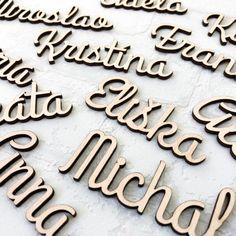 Drevené menovky na svadbu |DUBLEZ Cookie Cutters, Ale, Ales