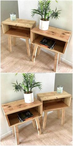 Most Creative Simple DIY Wooden Pallet Furniture Project Ideas wooden pallet end tables The post Most Creative Simple DIY Wooden Pallet Furniture Project Ideas appeared first on Pallet Ideas. Wooden Pallet Projects, Wooden Pallet Furniture, Wood Pallets, Furniture Ideas, Furniture Stores, Small Wooden Projects, Pallet Wood, Cheap Furniture, Homemade Furniture