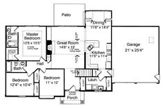 Bungalow House Plan chp-28692 at COOLhouseplans.com
