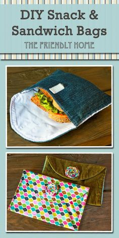 Easy pattern and nice tutorial. Use parchment squares from Costco (1¢ ea!) to wrap messy foods before putting them in the cloth baggies. @Matty Chuah Friendly Home: No more ziplocs!