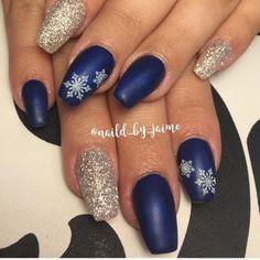 Snowflake Nails by J