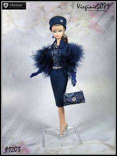 tenue outfit + accessoires pour  Barbie silkstone vintage integrity toys #1203