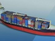 Simple Container Ship Paper Model Free Template Download