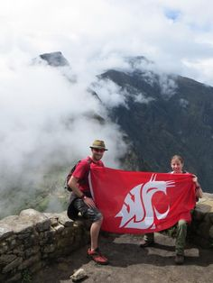 Washington State University's Coug flag is flown all over the world! Share your photo! All Over The World, Around The Worlds, Washington State University, Flag, Waves, College, University, Science, Ocean Waves
