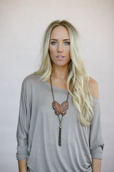 Perfect Off Shoulder Top 3/4 Sleeve- More colors available from Gypsy Outfitters - Boho Luxe Boutique