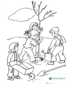Plant A Tree For Arbor Day Coloring Page See the category to find more printable coloring sheets. Also, you could use the search box to find what you . Earth Day Coloring Pages, Spring Coloring Pages, Tree Coloring Page, Flower Coloring Pages, Coloring Pages To Print, Printable Coloring Pages, Colouring Pages, Free Coloring, Coloring Pages For Kids