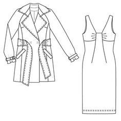 Burdastyle 11-2008-131 Trench coat