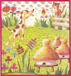 Done Stan - Ridichea uriasa illustrations Vintage Children, Illustrators, Frame, Painting, Bees, Art, Vintage Kids, Picture Frame, Art Background