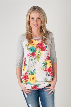 Floral printed baseball tunics   Jane