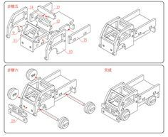木製LEGO單人小貨車