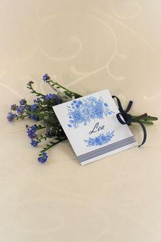 "Platzkarte ""Fleur"" - Doppelseitige Platzkarte... ...dekoriert den Platz Eurer Gäste Lieferung ohne Blumen. Decorating"