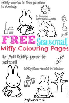 Love Miffy? We do! Help us celebrate her 60th birthday and download some free Miffy colouring pages that your kids will love!