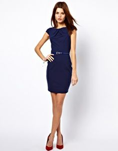 Just in cases: ASOS has fun, fairly inexpensive dresses for bridesmaids (Enlarge Warehouse Pleat Neck Dress)