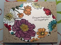 Stampin' Up! Blooming With Hope hostess set using Blendabilities