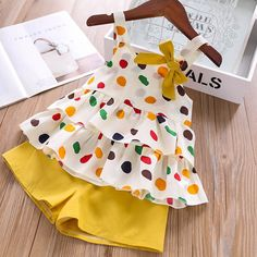 Humor Bear Baby Girl Clothes 2019 Hot Summer New Girls' Clothing Sets Kids Bay clothes Toddler Chiffon bowknot coat+Pants Girls Summer Outfits, Dresses Kids Girl, Toddler Girl Outfits, Baby Outfits Newborn, Baby Girl Clothes Summer, Cute Toddler Girl Clothes, Babies Clothes, Baby Newborn, Summer Girls