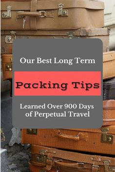 We've been living out of suitcases for the last 2 and a half years and we've actually come to enjoy it. Here are our best packing tips learned from experience!