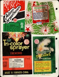 fireworks packaging, 1988