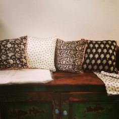 The Stitching Project. Cushions, Pillows, Hand Stitching, New Work, Weave, Hand Weaving, Iron, Couch, India