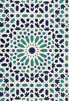 Nasrid Palace Mosaic Aegean Wallcovering SKU - 5005960 Match - Straight…