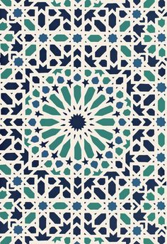 Nasrid Palace Mosaic  Aegean  Wallcovering SKU - 5005960   Match - Straight…