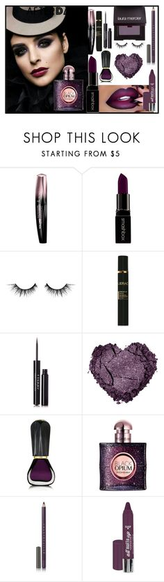 """""""Beauty After Dark"""" by zoe-sneki ❤ liked on Polyvore featuring beauty, Rimmel, Smashbox, Illamasqua, LIERAC, By Terry, Anastasia Beverly Hills, Oribe, Yves Saint Laurent and Chantecaille"""