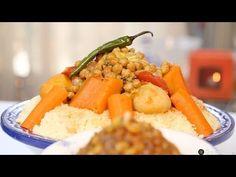 ▶ Choumicha : Couscous marocain aux légumes (VF) - YouTube