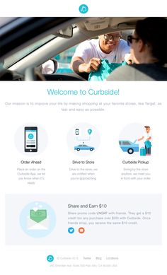 Curbside sent this email with the subject line: Welcome to Curbside - Relaxing beautiful imagery and illustrations lead me through the way the application works. An opportunity to share is valuable. I wonder if they've experimented with a stronger CTA? Read about this email and find more welcome emails at ReallyGoodEmails.com #app #welcome