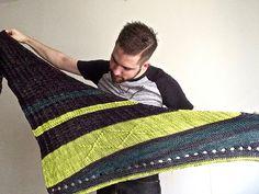 Splinter pattern by Josh Ryks | malabrigo Rios in Pearl Ten, Apple Green and Aguas