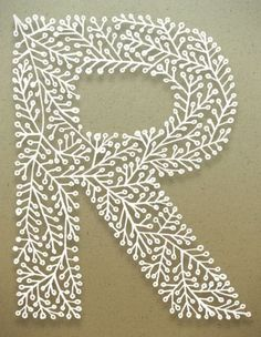 initial monogram letter a may be used for paper cutting fancy