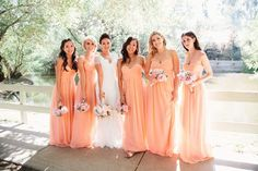 Love these #coral #bridesmaid #dresses! // Photography by Sweet Little Photographs. For more if this wedding visit www.modernwedding.com.au