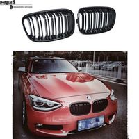 1 series F20 2012 - 2014 dual slat M style  glossy black front bumper hood grille for BMW vehicles F20 116i 118i 120i 135i