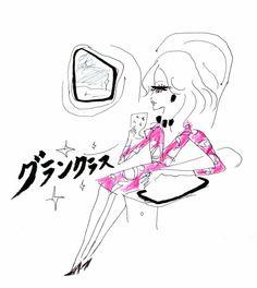 DVF DRESS 2015:illustration by akiko hiramatsu