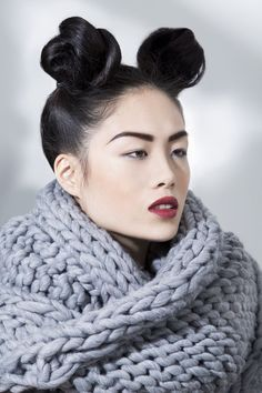 Vanessa Lee test by Phillip Suddick, via Behance Foto Fashion, Contemporary Fashion, Knit Crochet, Cool Hairstyles, Modern, Hair Makeup, Sweaters For Women, Hair Cuts, Hair Beauty