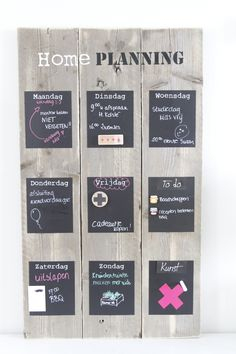 Weekly planner scaffolding wood Medium - Before After DIY Salons Cottage, Scaffolding Wood, Home Crafts, Diy Crafts, Weekly Planner, Planner Diy, Getting Organized, Wood Pallets, Home Organization