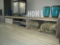 Billedresultat for diy tv meubel Media Room Design, Tv Furniture, House Inside, Home Living Room, Interior Inspiration, Family Room, Sweet Home, House Design, Interior Design