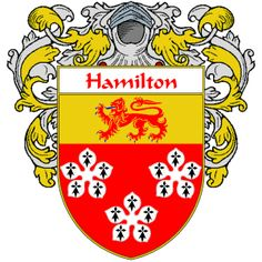 Hamilton Coat of Arms  namegameshop.com has a wide variety of products with your surname with your coat of arms/family crest, flags and national symbols from England, Ireland, Scotland and Wale