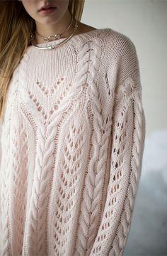 Ryan Roche Pale Apricot Handknit Sweater