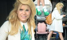Paloma Faith dolls up for cinema date in towering green platform heels Tom Hardy New Movie, Cinema Date, Cinemas In London, Feminine Style, Feminine Fashion, Bright Blonde Hair, Cream Coat, Paloma Faith, Glamour Magazine