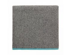 Tagesdecke in Grau & Türkis / Throw in grey and turquoise