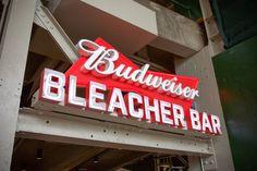 Wrigley Field: Budweiser Bleachers | Signage by Younts Design #ydi #egd #signage #wrigleyfield #chicagocubs