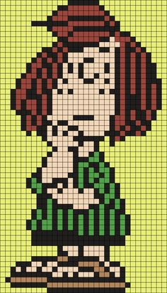 Peppermint Patty Perler Bead Pattern / Bead Sprite