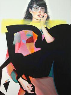 MARTINE JOHANNA - SUM OF ALL PARTS (2018, acrylic on linen)