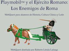Aprende con esta webquest que tiene como protagonistas a los simpáticos muñecos de Playmobil, aspectos relacionados con el ejército en la antigua Roma.  #rinconccss #Recursoseducativos #tic_ccss