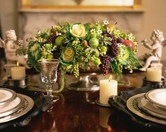 This is the perfect time to combine fruits and vegetables with your favorite flowers for a table centerpiece.