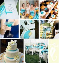 Azul-turquesa, verde-água ou ainda azul Tiffany, para os mais chiques, em referência à joalheria Tiffany que usa essa cor maravilhosa como sua marca registrada. Para a decoração do casamento, o azu…