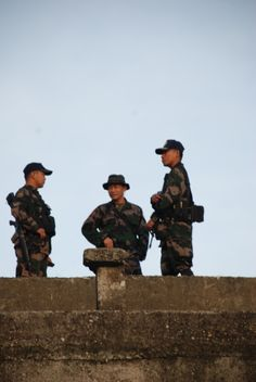 Heading up to the mountains of Mindanao, there are others there trying to keep the peace and order.